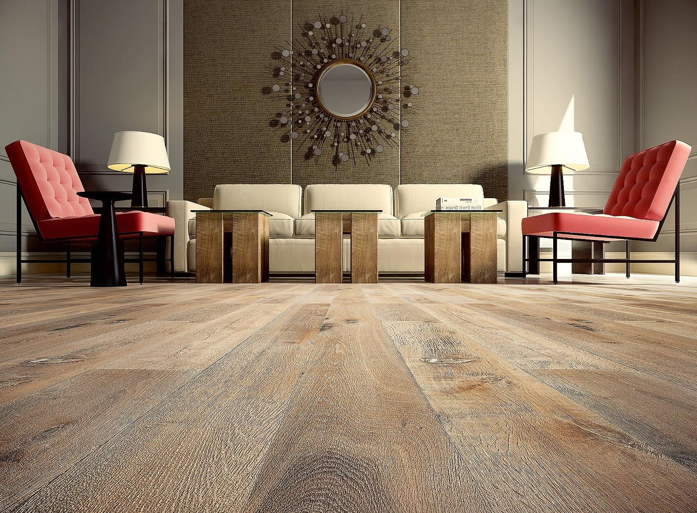 Textured Hardwood Flooring