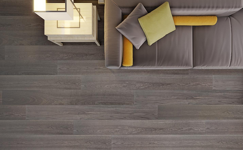contemporary grey flooring idea